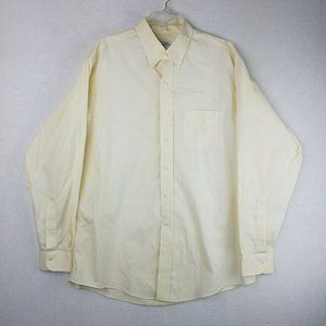 Mens Brooks Brothers 346 Cream Button Up 17-36 Top